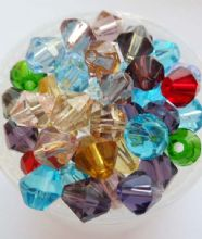 Bicone bead mix. 6mm x 20